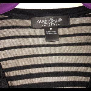 august silk Sweaters - Black sweater